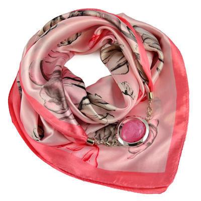 Šátek s bižuterií Stella - růžový