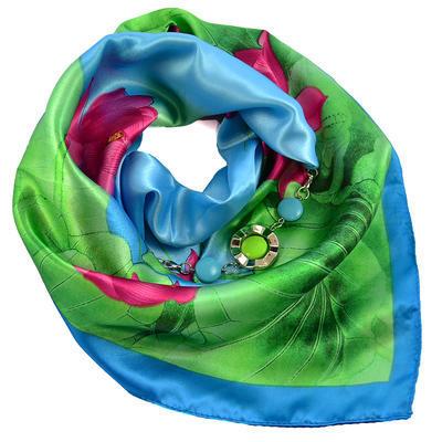 Šátek s bižuterií Stella - modrozelený - 1