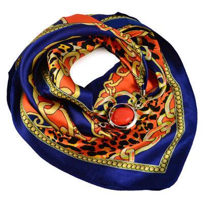 Šátek s bižuterií Stella - modrooranžový - 1