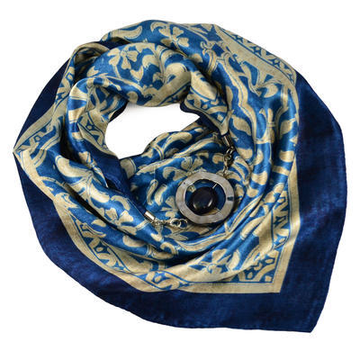 Šátek s bižuterií Stella - modrý - 1