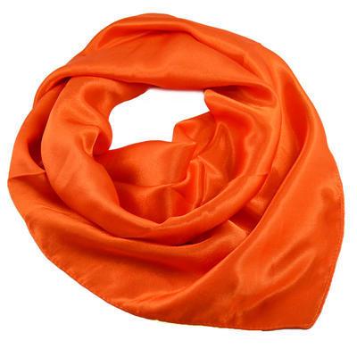 Šátek saténový 63sk001-11 - oranžový