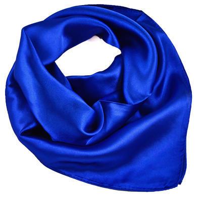 Šátek saténový - modrý