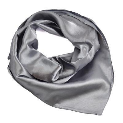 Šátek saténový 63sk001-71a - šedý