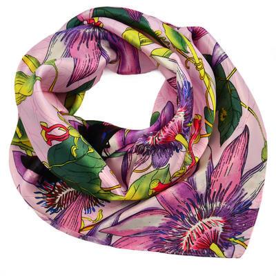 Šátek saténový - růžovofialový - 1