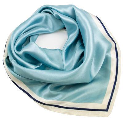Šátek saténový - modro-bílý - 1