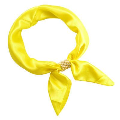 Šátek s bižuterií Letuška Light - žlutý - 1