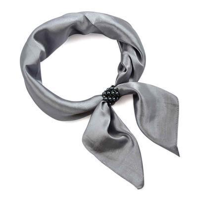 Šátek s bižuterií Letuška - šedý - 1