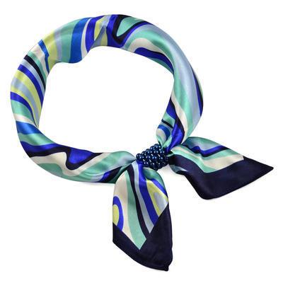 Šátek s bižuterií Letuška - modrý - 1