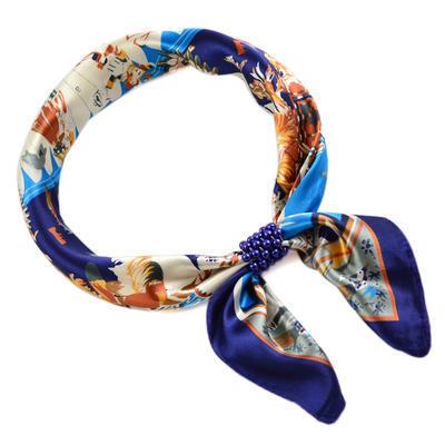 Šátek se sponkou Letuška Light 245lel009-30.01 - modrý - 1