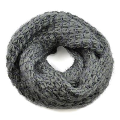 Tunelová pletená šála 69tz001-71c - šedá