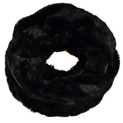 Tunelová kožešinová šála - černá