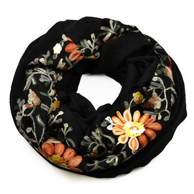 Snood 69tu001-70b - solid black - 1