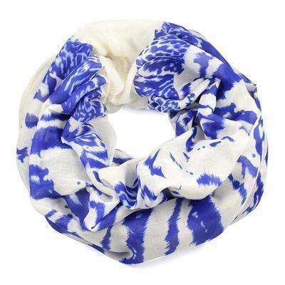 Tunelová šála 69tu007-01.30a - bílo-modrá zebra - 1