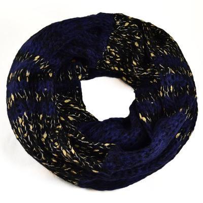 Tunelová pletená šála - modrá