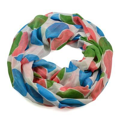 Summer snood 69tl009-01.30 - blue and white with abstract pattern - 1