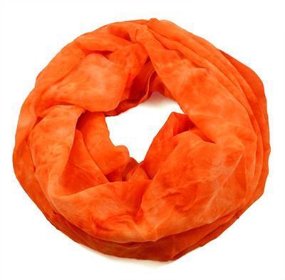Tunelová šála 69tu002-11 - oranžová neonová batikovaná - 1