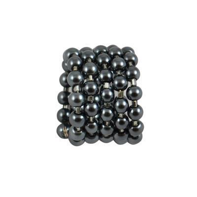 Velká spona na šálu 149sp75 - hematitová - 1