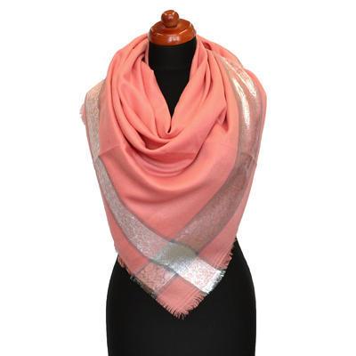 Velký šátek - korálový - 1