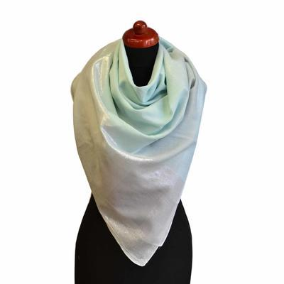 Velký šátek - mentolová lesklá kostka - 1