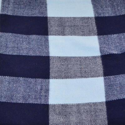 Teplá šála - modrá kostkovaná - 2