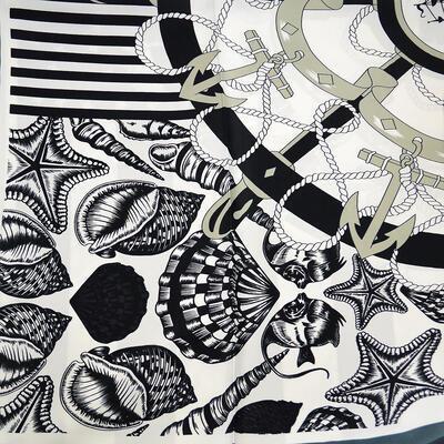 Velký šátek - černobílý - 2