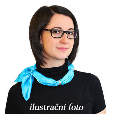 Šátek s bižuterií Sofia 245sof001-11 - oranžový - 2
