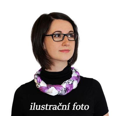 Šátek-náhrdelník Florina 299flo009-33.01 - fialovobílý - 2