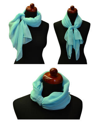 Jewelry scarf Melody - brown - 2