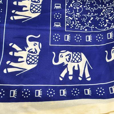 Šála klasická 69cz005-30.14 - modré slony - 2