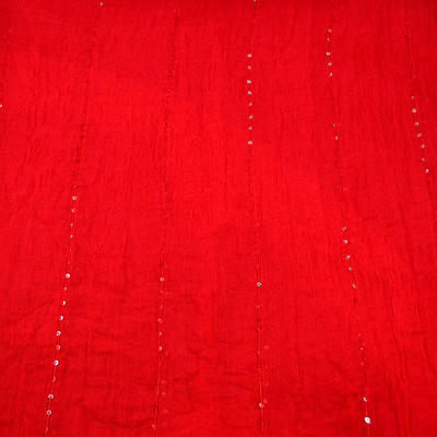 Classic cotton scarf - red - 2
