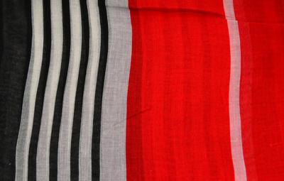 Šála klasická - červeno-černá s pruhy - 2