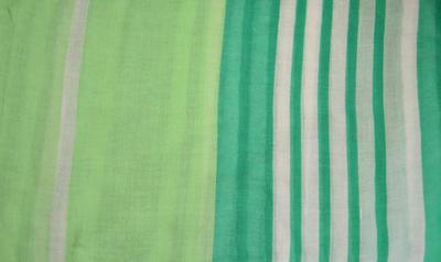 Šála klasická - zelená s pruhy - 2