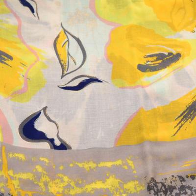 Šála klasická - žluto-béžová s potiskem - 2