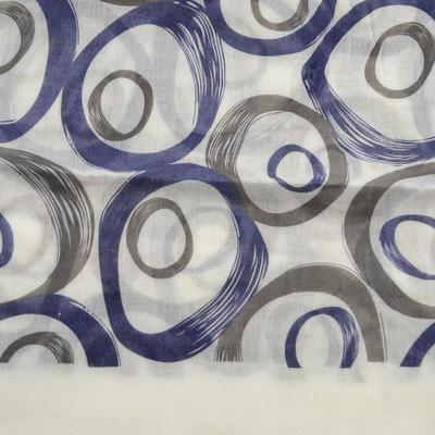 Šála klasická - bílo-modrá s potiskem - 2