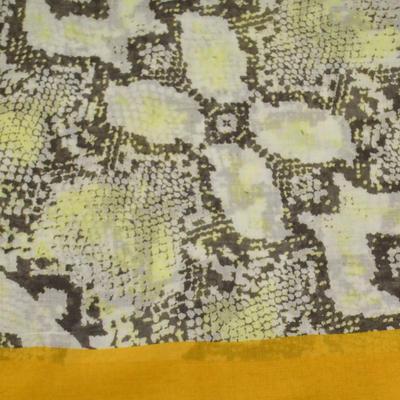 Šála klasická - béžovo-zlatá hadí kůže - 2