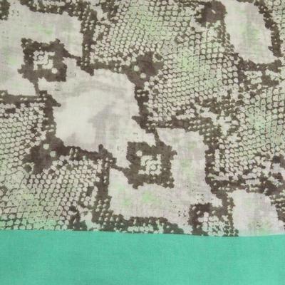 Šála klasická - béžovo-zelená hadí kůže - 2