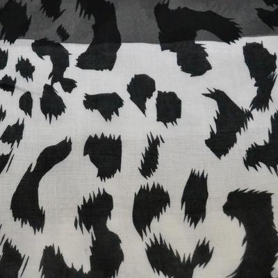 Šála klasická - černobílá zvířecí - 2