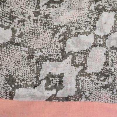 Šála klasická - šedo-růžová hadí kůže - 2