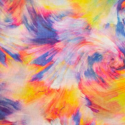 Šála klasická - barevná s potiskem - 2