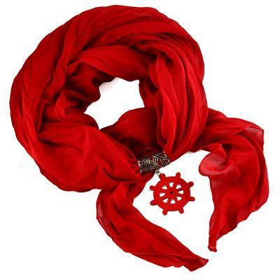 Přívěsek na šálu up100-20a - červené kormidlo - 2