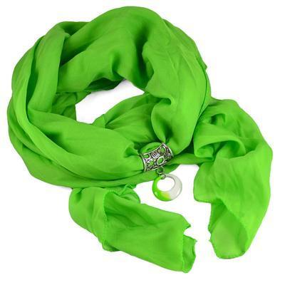 Přívěsek na šálu up100-51.01 - zelenobílý - 2