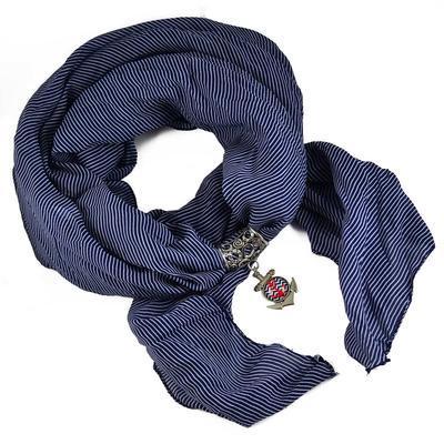 Přívěsek na šálu up149-30.20 - modročervená kotva - 2