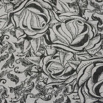 Šála teplá - černobílá - 2