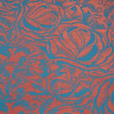 Šála teplá - oranžovo-modrá - 2