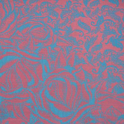 Šála teplá - růžovotyrkysová - 2