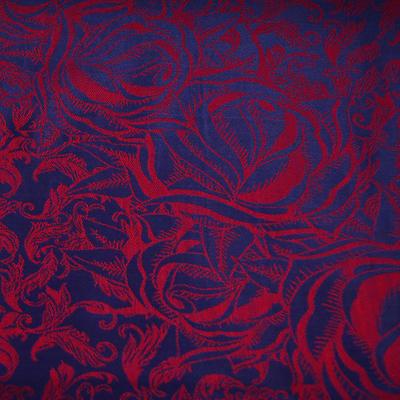 Šála teplá - modročervená - 2