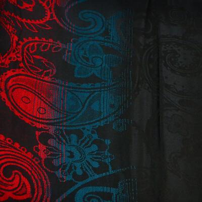 Šála teplá - černo-červená - 2