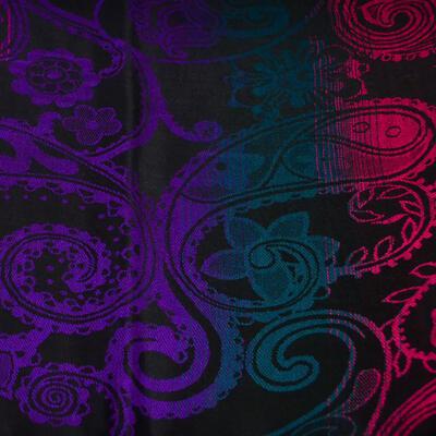 Šála teplá - černo-fialová - 2