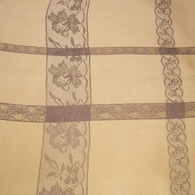 Šála teplá - béžová s krajkovým potiskem - 2