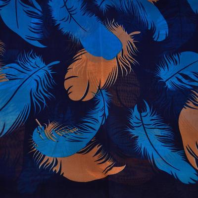 Šála vzdušná - modrohnědá - 2